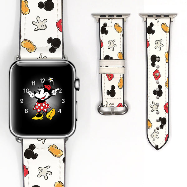 Disney Mickey Mouse Inspired 38 40 42 44 mm Soft Silicon Sport Strap Apple Watch Band -v178