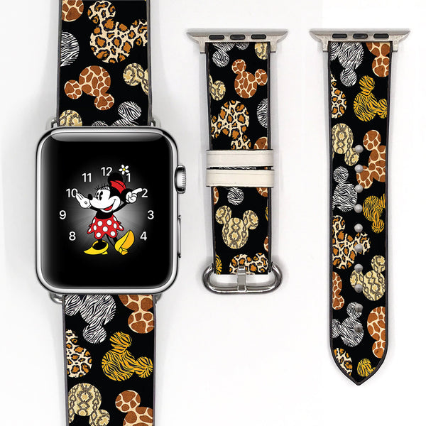 Disney Theme Park Mickey Mouse Inspired animal kingdom 38 40 42 44 mm Soft Silicon Sport Strap Apple Watch Band -v655