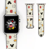 Disney Mickey Mouse Inspired 38 40 42 44 mm Soft Silicon Sport Strap Apple Watch Band -v103