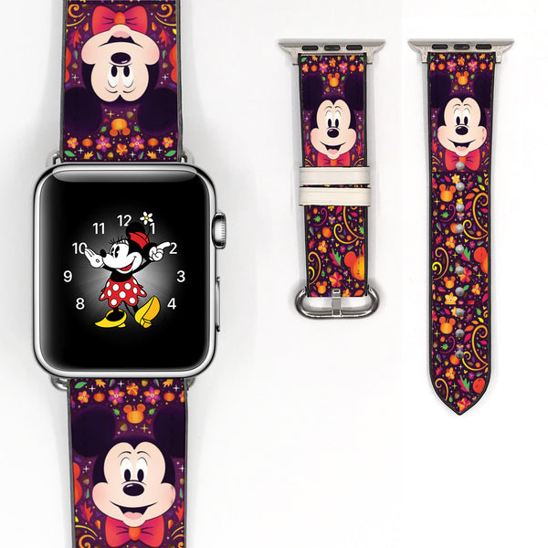 Disney Mickey Mouse Halloween Inspired 38 40 42 44 mm Soft Silicon Sport Strap Apple Watch Band -v871