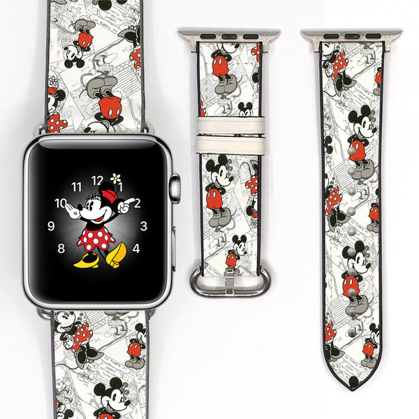 Disney Mickey Minnie Inspired 38 40 42 44 mm Soft Silicon Sport Strap Apple Watch Band -v1