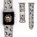 Disney Mickey Minnie Mouse Inspired 38 40 42 44 mm Soft Silicon Sport Strap Apple Watch Band -v547