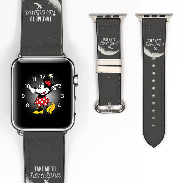 Disney Peter Pan Take me to Neverland Inspired 38 40 42 44 mm Soft Silicon Sport Strap Apple Watch Band -v666