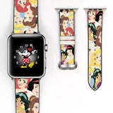 Disney Princess Inspired 38 40 42 44 mm Soft Silicon Sport Strap Apple Watch Band -v594