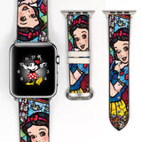 Mosaic Disney Snow White Inspired 38 40 42 44 mm Soft Silicon Sport Strap Apple Watch Band -v459