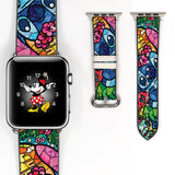 Mosaic Disney lilo and stitch Inspired 38 40 42 44 mm Soft Silicon Sport Strap Apple Watch Band Blue -v452