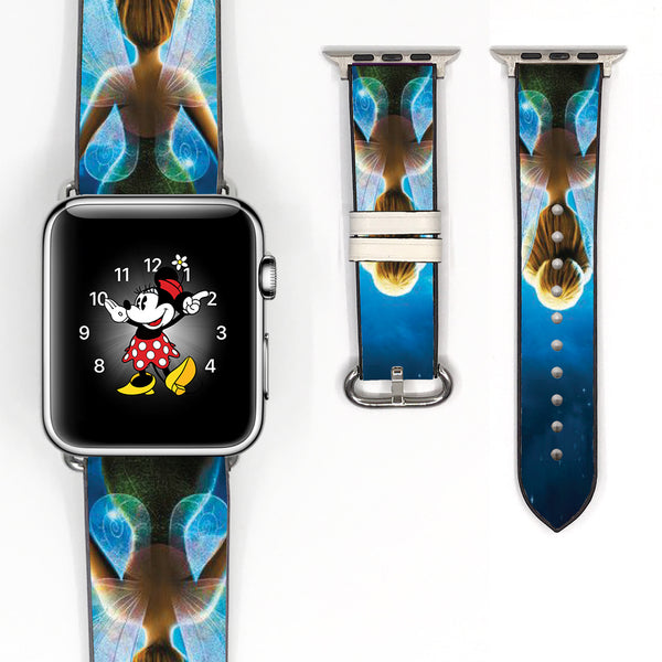 Disney Tinker Bell Inspired 38 40 42 44 mm Soft Silicon Sport Strap Apple Watch Band -v469