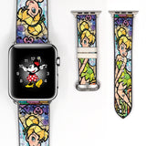 Mosaic Disney Tinker Bell Inspired 38 40 42 44 mm Soft Silicon Sport Strap Apple Watch Band -v461