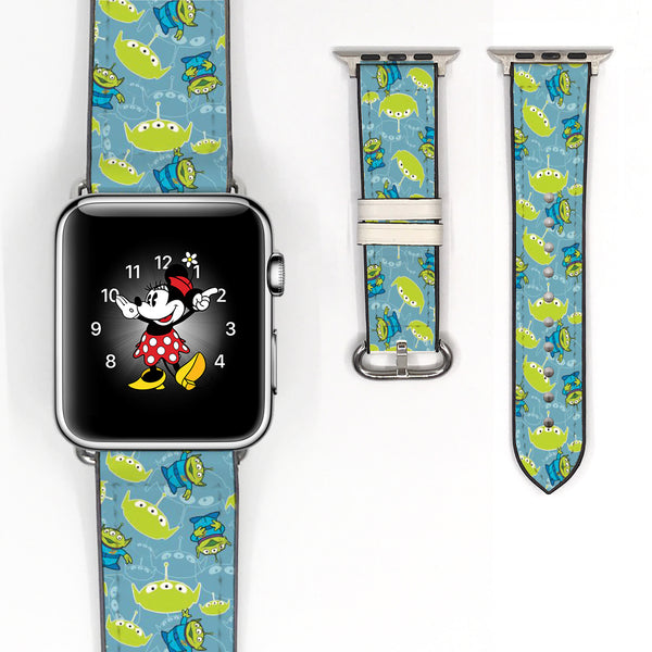 Disney Toy Story Space Aliens Inspired 38 40 42 44 mm Soft Silicon Sport Strap Apple Watch Band -v721