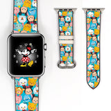 Disney Cute Mickey Mouse and Friend Inspired 38 40 42 44 mm Soft Silicon Sport Strap Apple Watch Band -v472
