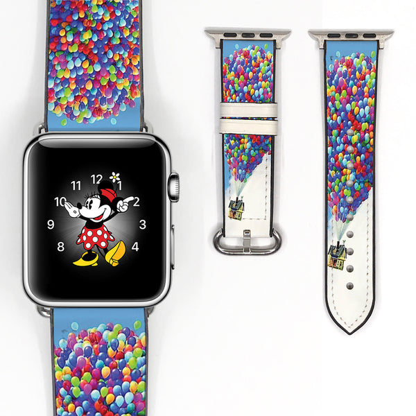 Disney pixar Up flying house balloons 38 40 42 44 mm Soft Silicon Sport Strap Apple Watch Band -v160