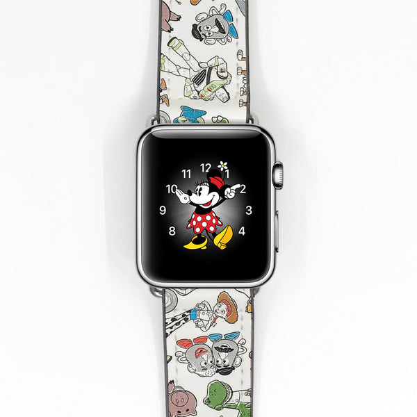 Disney Toy Story 4 Inspired 38 40 42 44 mm Soft Silicon Sport Strap Apple Watch Band -v880
