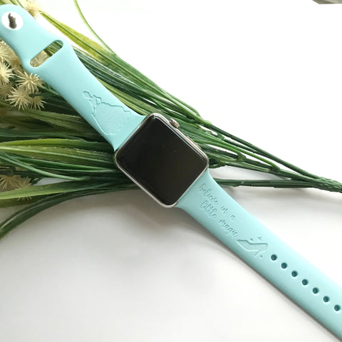 Princess Cinderella inspired Laser Engraved Apple Watch Band