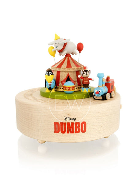 Disney Dumbo Flying Elephant Carousel Wooden Merry Go Around Music Box