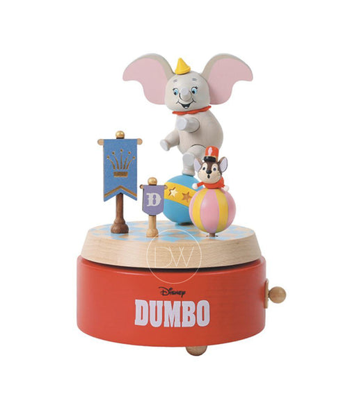 Disney Dumbo Flying Elephant Wooden Merry Go Around Music Box