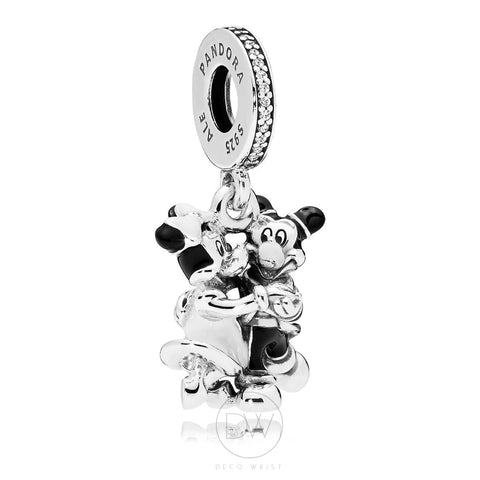 Disney, Mickey and Minnie Mouse Dangle Charm by Pandora