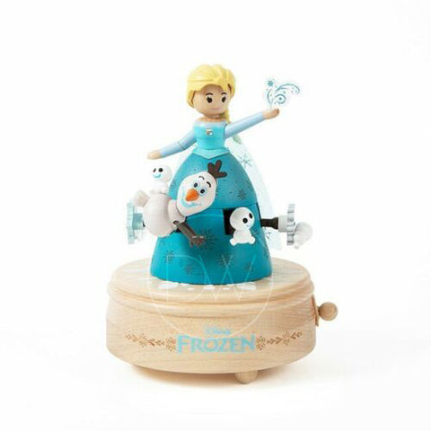 Disney Princess Frozen Elsa Let it Go Wooden Merry Go Around Music Box