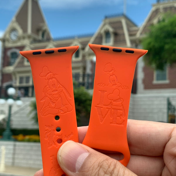 Disney Theme Park Goofy inspired Laser Engraved Apple Watch Band