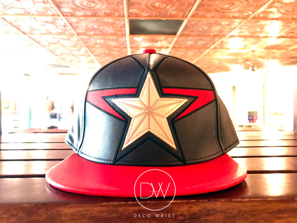 Authentic Disney Parks Marvel Hero Captain America Adjustable Cap - Adult