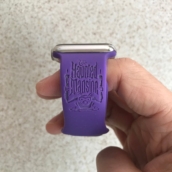 Theme Park Haunted Mansion - Of course There's Always My Way inspired Laser Engraved Apple Watch Band