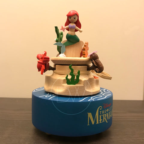 Disney Princess Ariel The Little Mermaid Wooden Music Box - Merry Go Around