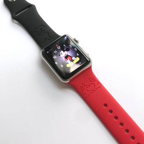 Disney Theme park - Mickey Mouse Love Hands inspired Laser Engraved Apple Watch Band