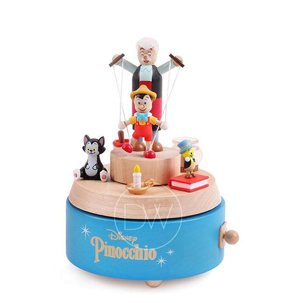 Disney Pinocchio Wooden Merry Go Around Music Box