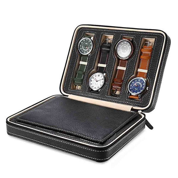 Portable Watch Case for 8 Watches