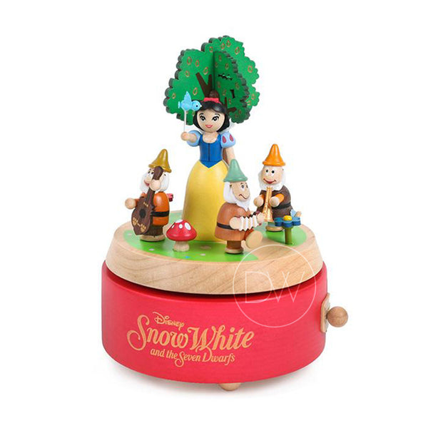 Disney Princess Snow White and Seven Dwarfs Wooden Music Box - Merry Go Around