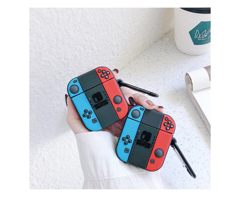 Nintendo Switch soft silicon AirPods 1 2 case with holding ring  [AP011]