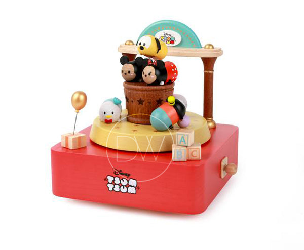 Disney Tsum Tsum Toy Shop Wooden Music Box - Merry Go Around