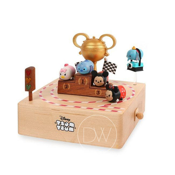 Disney Tsum Tsum Circuit Wooden Music Box - Merry Go Around