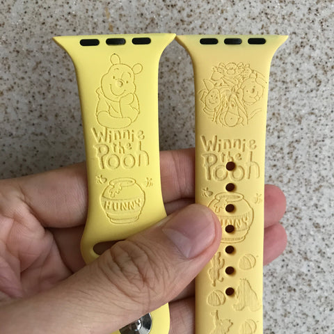 Winnie the pooh and friends inspired Laser Engraved Apple Watch Band