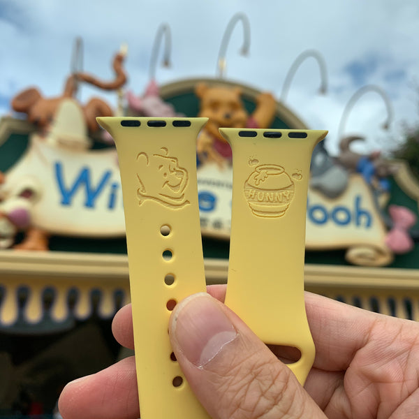 Winnie the pooh and Hunny inspired Laser Engraved Apple Watch Band