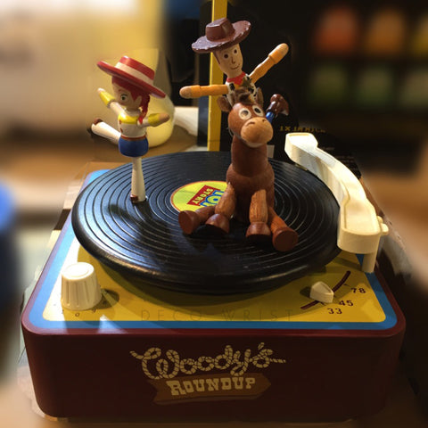 Disney Pixar Toy Story Wooden Music Box Woody - Merry Go Around