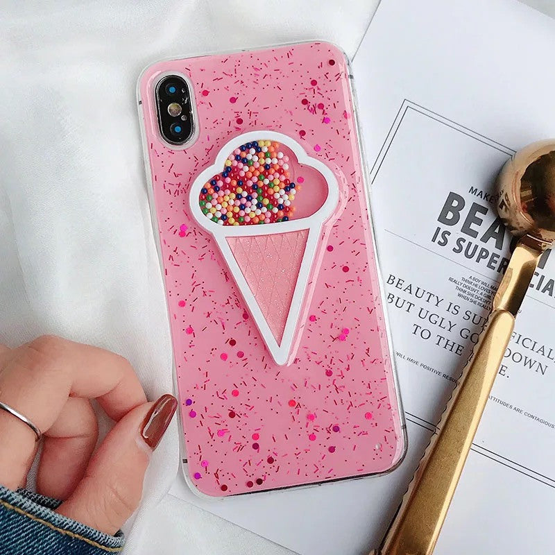 Pink Ice cream case for iPhone