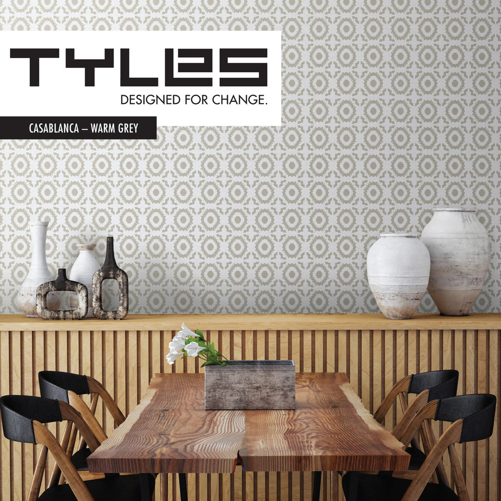 NEW! Tyles Casablanca in Warm Grey - Tyles  - 1