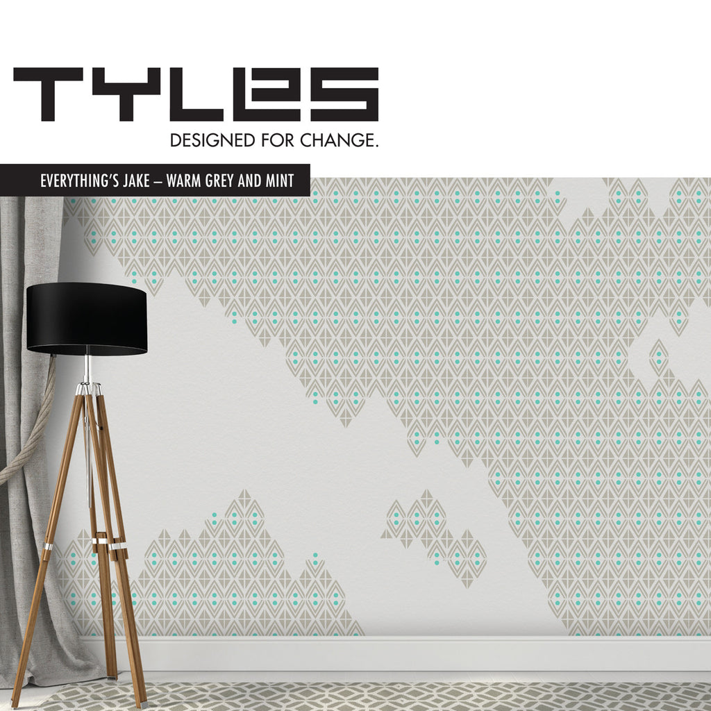 NEW! Tyles Everything's Jake in Warm Grey and Mint - Tyles  - 1