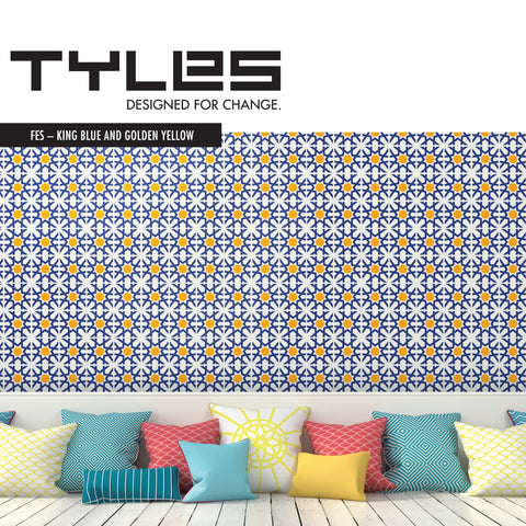 TYLES Fes in King Blue and Golden Yellow