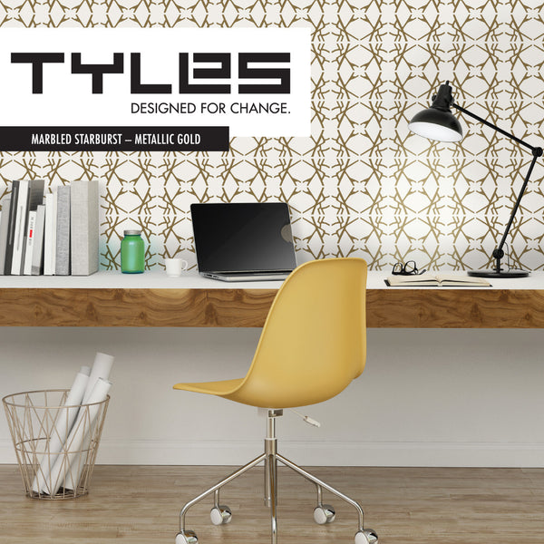 Tyles Marbled Starburst in Metallic Gold - Tyles  - 1