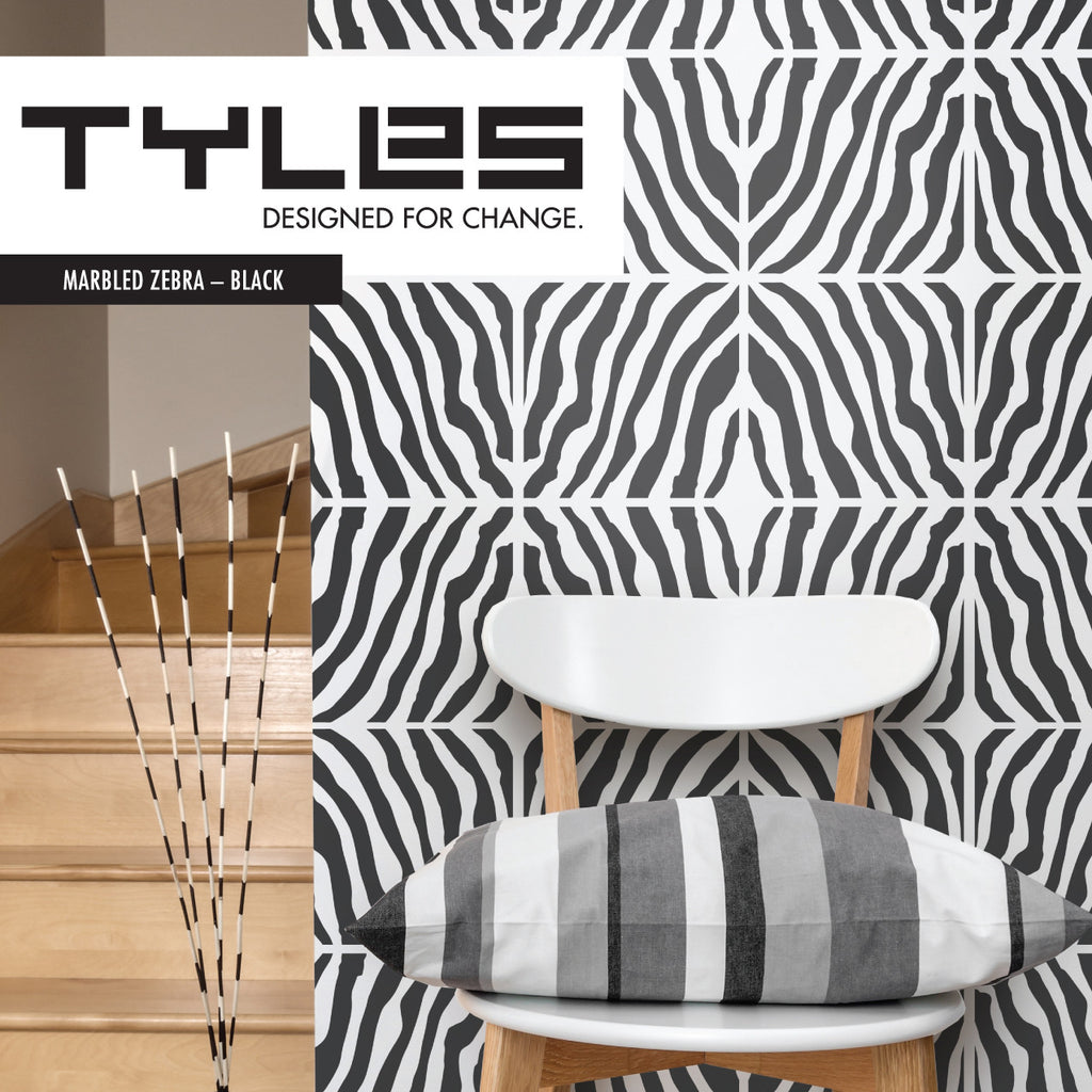 Tyles Marbled Zebra in Black - Tyles  - 1