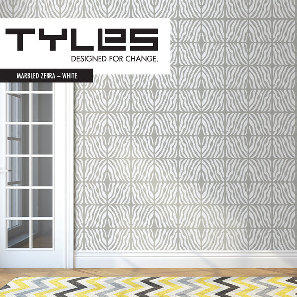 Tyles Marbled Zebra in White - Tyles  - 1