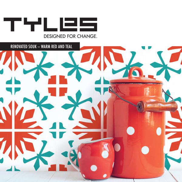 TYLES Renovated Souk in Warm Red and Teal (Two Color)