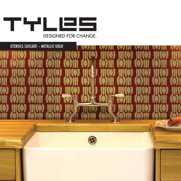 TYLES Utensils Cascade in Metallic Gold