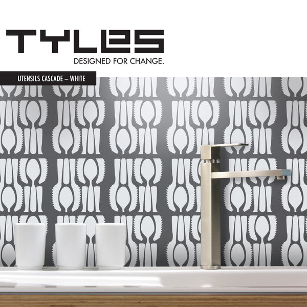 TYLES Utensils Cascade in White