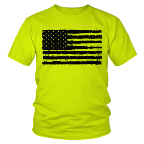 American Flag - Safety Yellow