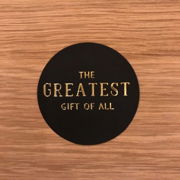 10 Aufkleber -the greatest gift- - interiør butik