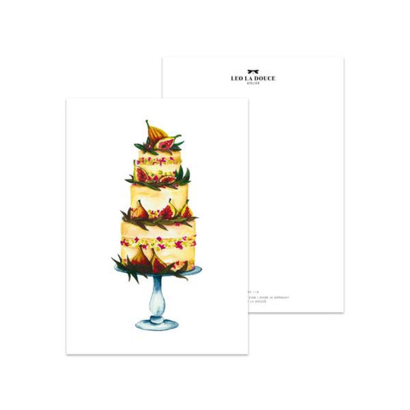 Postkarte Fig Tart