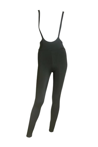 High Waisted Sling Leggings - Army Green-Hamade Activewear-Pole Junkie