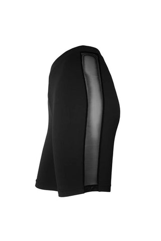 Mesh Side Cycling Shorts - Black-Hamade Activewear-Pole Junkie